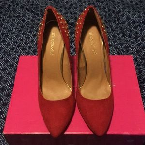 Red and Gold Pumps